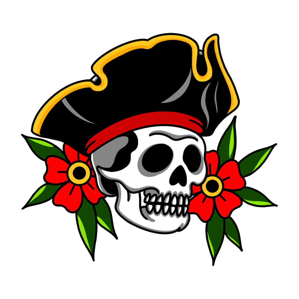 Mutiny Logo — Pirate Skull Logo